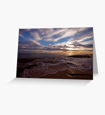 Burns Beach sunset Greeting Card