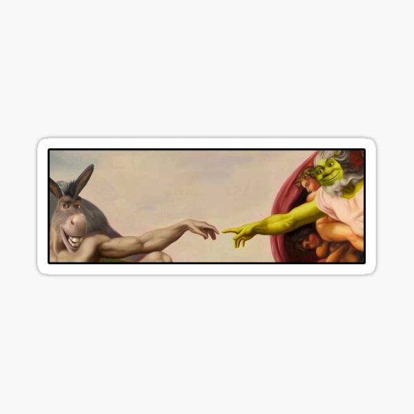 Shrek hands of God Sticker