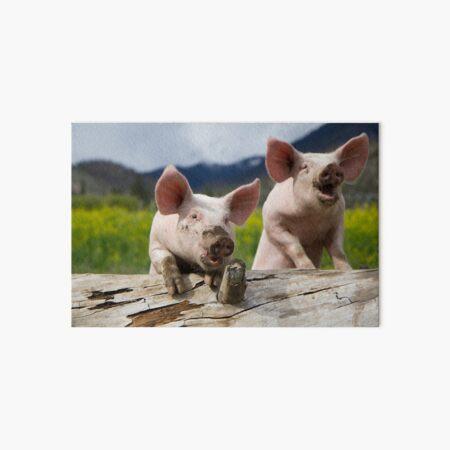 LOL Pigs Art Board Print
