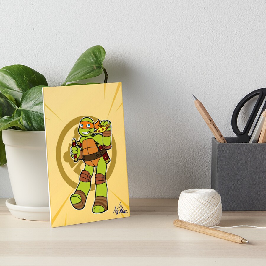 Tmnt 2012 Mikey Art Board Print By Tmnt Raph Fan Redbubble