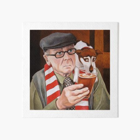 A penalty and a pint. Art Board Print