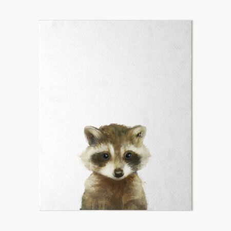 Little Raccoon Art Board Print