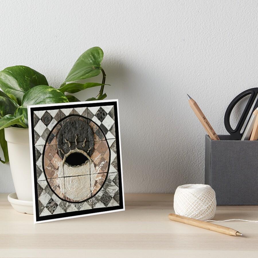Hatha: union of sun moon Art Board Print