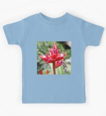 Red Tropical Plant Kids Tee
