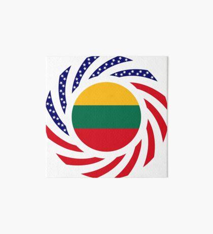 Lithuanian American Multinational Patriot Flag Series Art Board Print