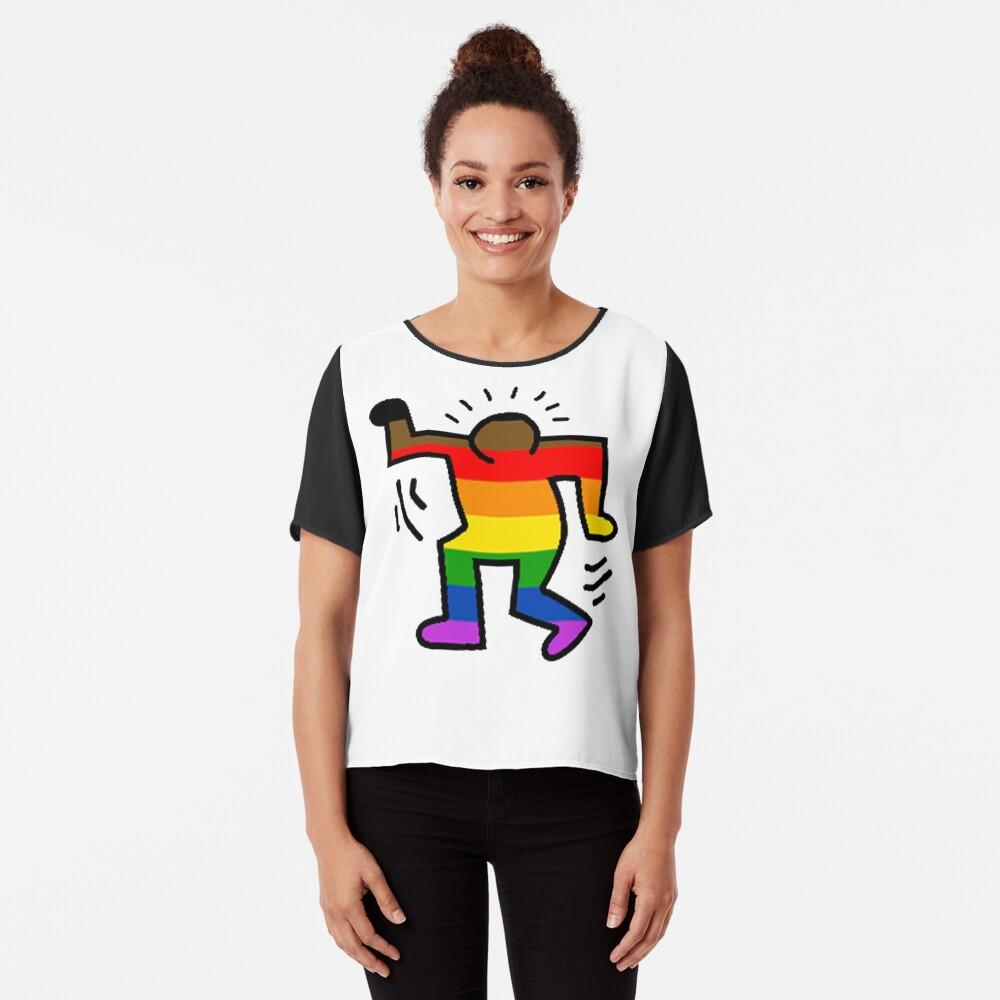 Keith Haring Homosexuell Chiffon Top