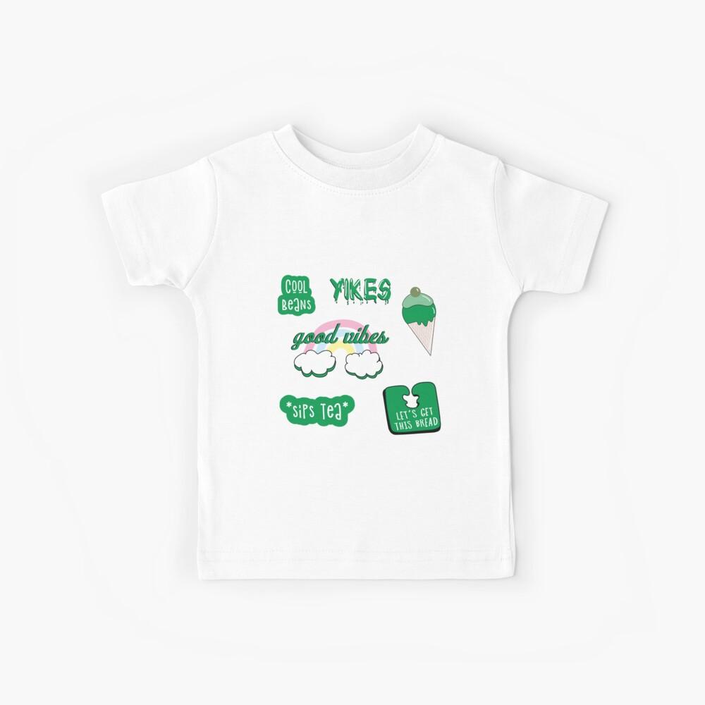 Kelly Green Sticker Pack Kinder T-Shirt