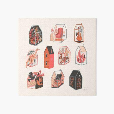 Little Boxes Art Board Print