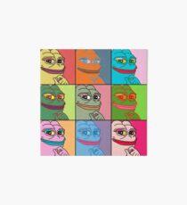 Rare Pop Art Marilyn Monroe Pepe the Frog Art Board Print