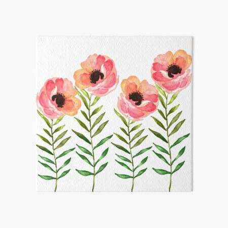 Watercolor Flower Art Board Print