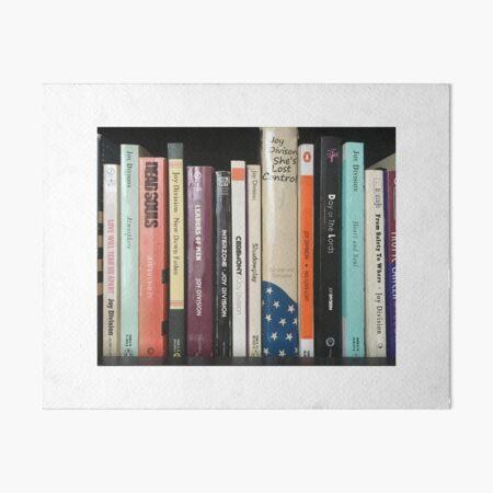Joy Division Bookshelf Art Board Print