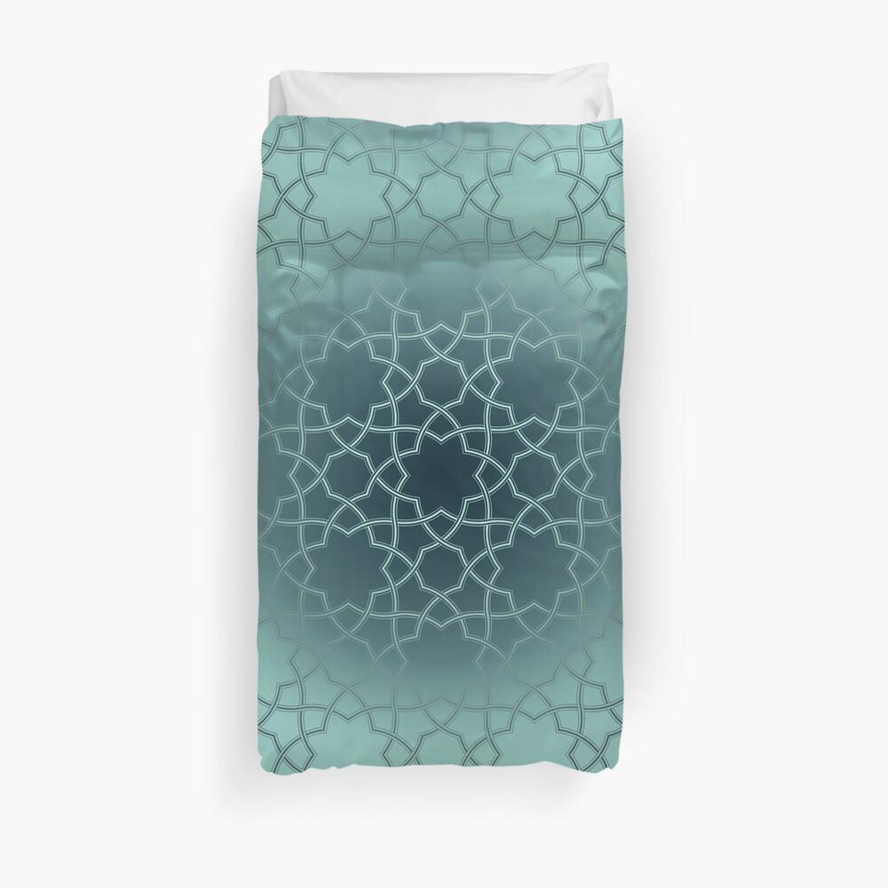 Turquoise Star Pattern Duvet Cover