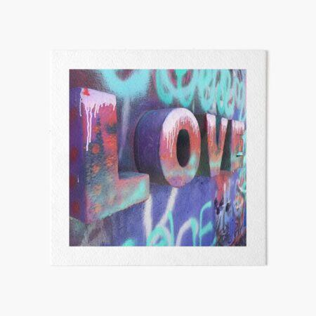 Graffiti with Love Art Board Print
