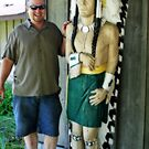 Wooden Chief And Happy Man by kkphoto1