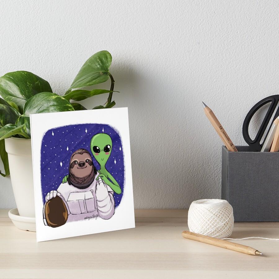 Space Love Art Board Print