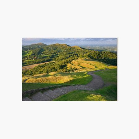 Malvern Hills : curving down Art Board Print