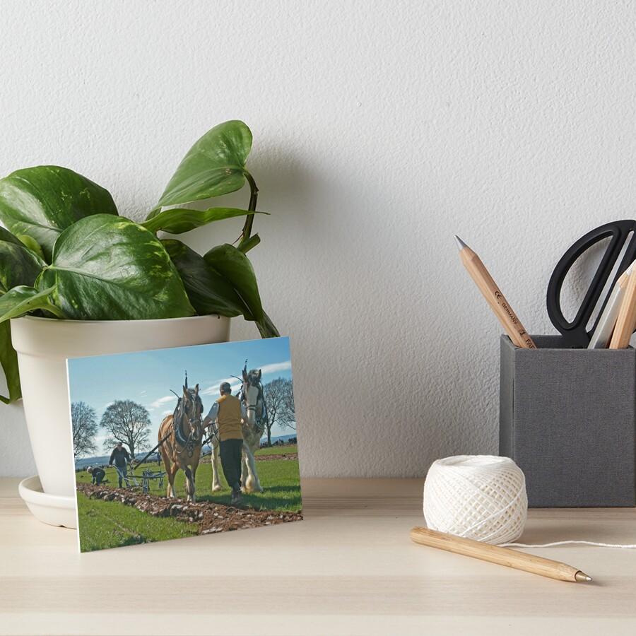 Ploughing match Art Board Print