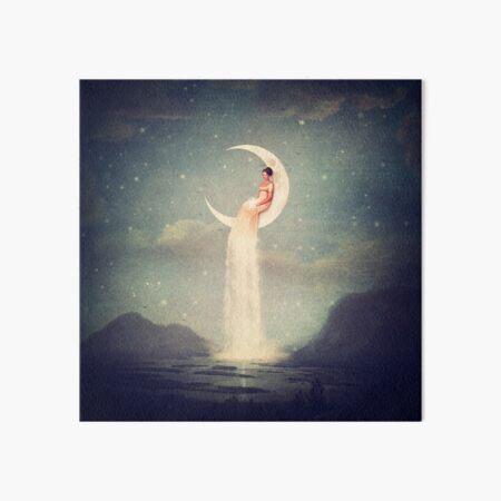 Moon River Lady Art Board Print
