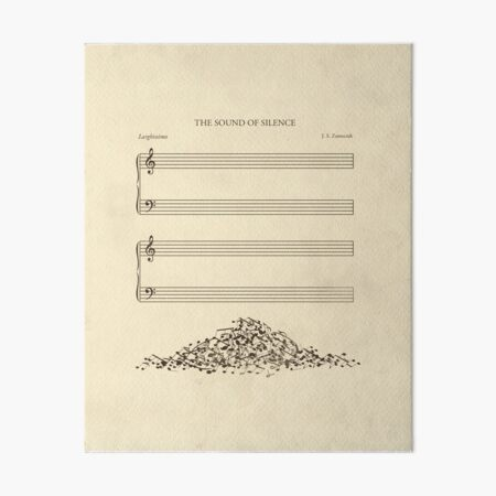 The Sound of Silence Art Board Print