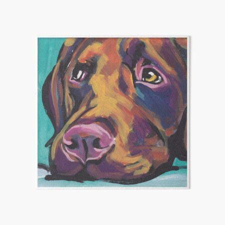 Chocolate Labrador Retriever Dog Bright colorful pop dog art Art Board Print