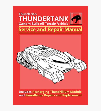 Thundertank Service and Repair Manual Photographic Print