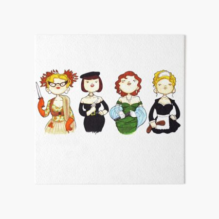 Ladies of Clue Art Board Print