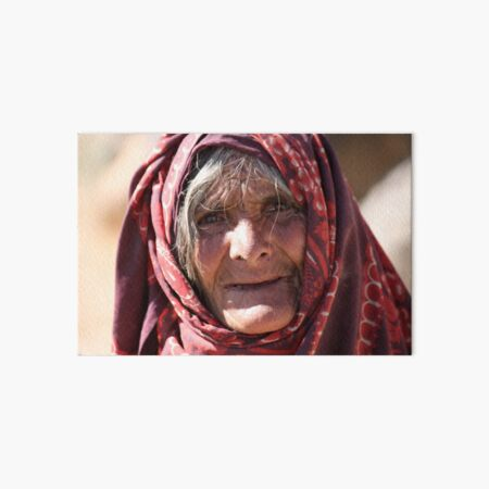 Old Woman (afghanistan) Art Board Print