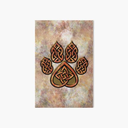 Celtic Knot Pawprint - Prints and Cards Art Board Print