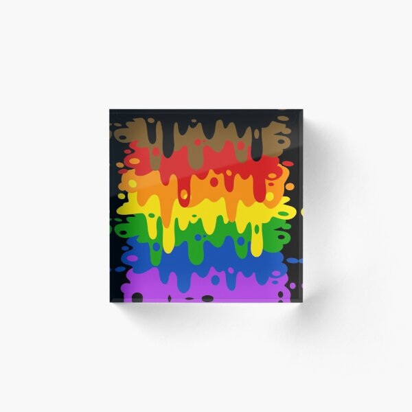 Gay Pride Goop Acrylic Block