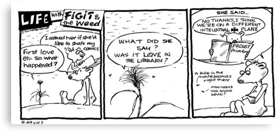 Life with Figit and the Weed. #40.Love in the Library. by John Sunderland