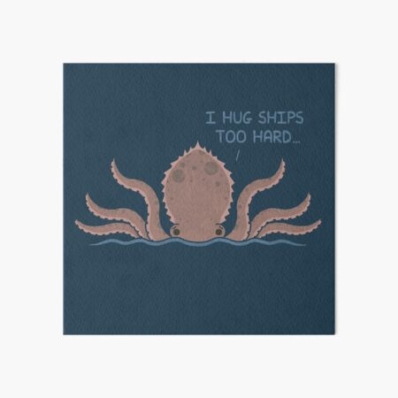 Monster Issues - Kraken Art Board Print