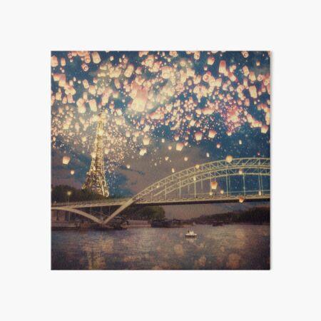 Love Wish Lanterns over Paris Art Board Print