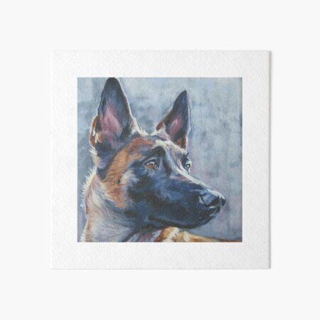 belgian-malinois dog 8x10 art print poster watercolor painting