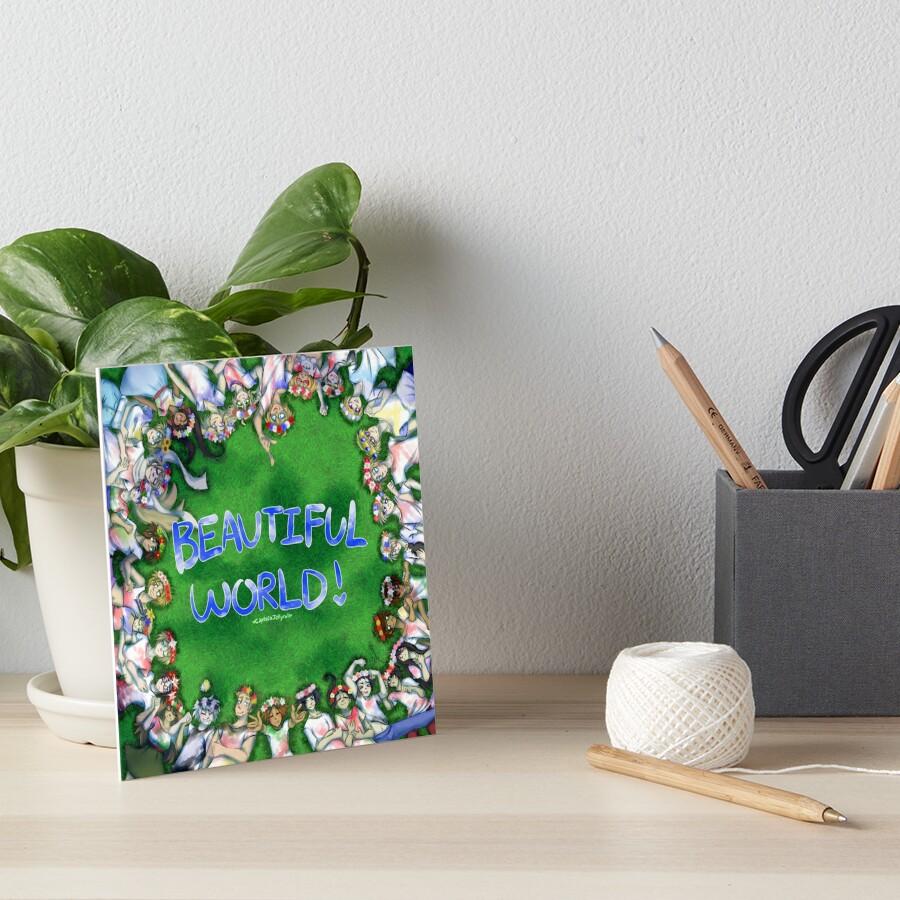 [Hetalia] Beautiful World! #10YrsOfHetalia Art Board Print