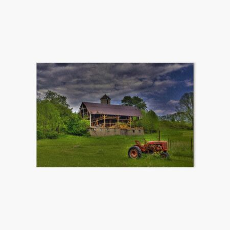 The Little Red Tractor Art Board Print