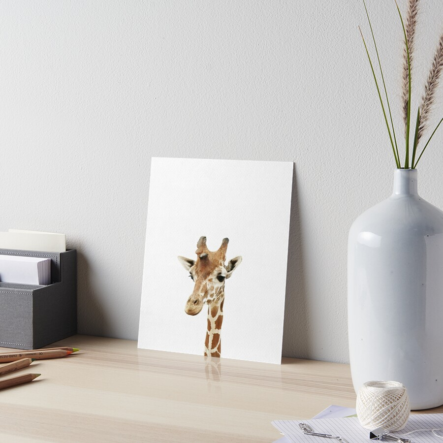 Baby Giraffe, Nursery, Animal, Kids room, Modern art, Wall decor Art Board Print