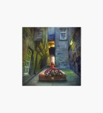 """Bagpiper from Trunk's Close"" Art Board Print"