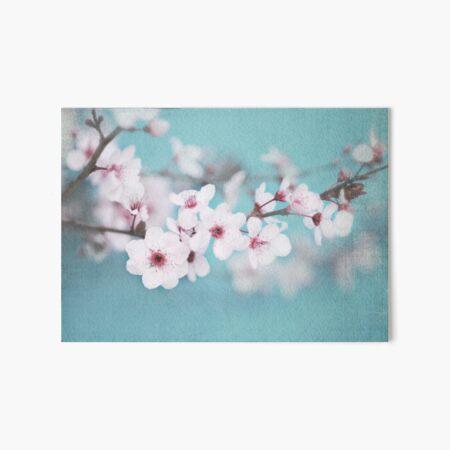 Blossoms on Blue Art Board Print