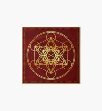 Metatrons Cube, Flower of life, Sacred Geometry Art Board Print