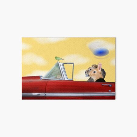 Whimsy and a Red Convertible Art Board Print