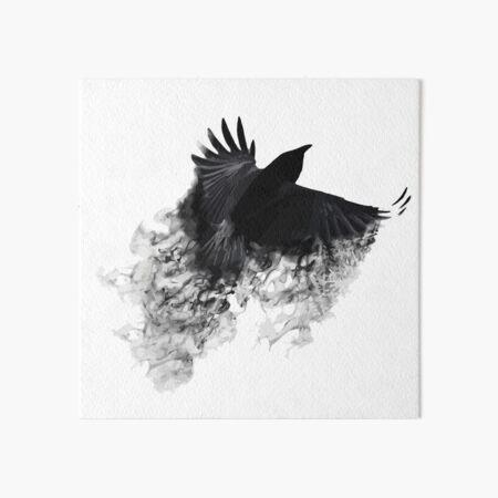 The Black Crow Art Board Print