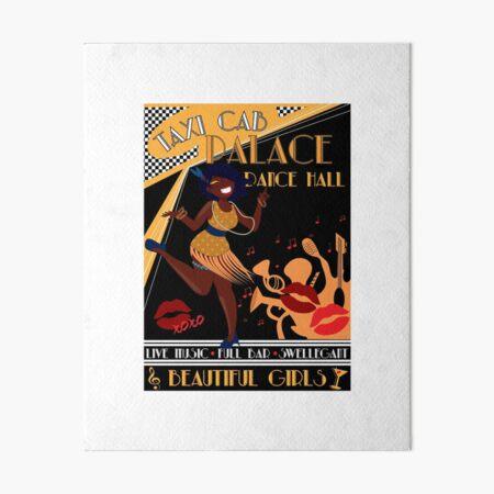Deco Dance Hall Art Board Print