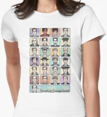 Benedict Cumberbatch Faces Women's Fitted T-Shirt