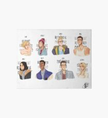 Cast of Until Dawn Art Board Print