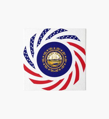 New Hampshire Murican Patriot Flag Series Art Board Print