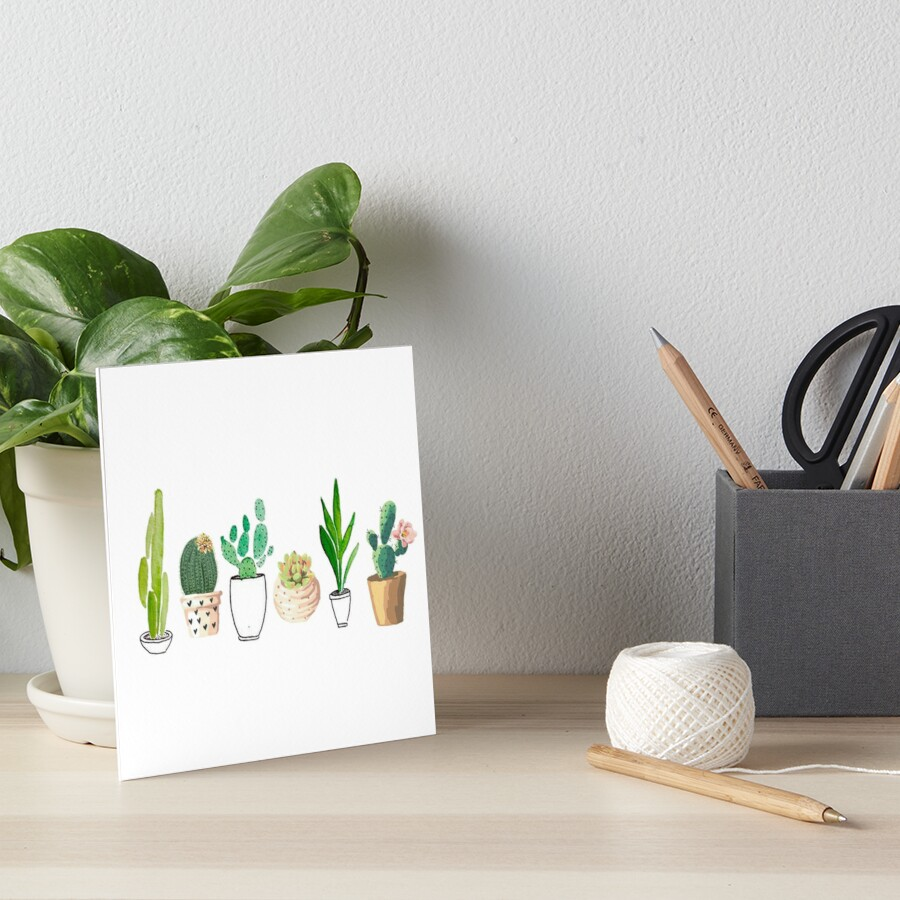 POTTED CACTI Art Board Print