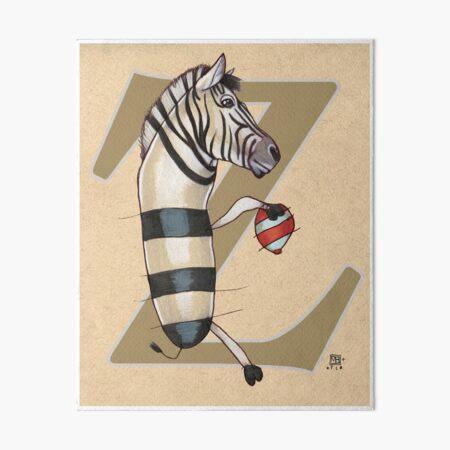 Z is for ZEBRA Art Board Print