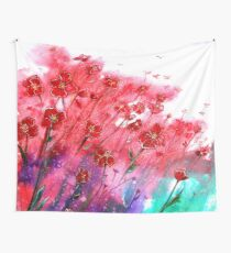 Flowers - Dancing Poppies Wall Tapestry