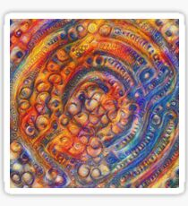 DeepDream abstraction Glossy Sticker