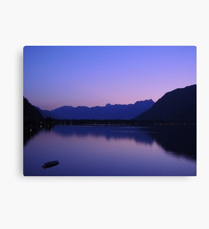 Zell Am See: Lone boat at Dusk Canvas Print